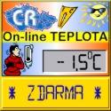 On-line teplota v ČR